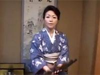 【無修正】五十路の日本舞踊家熟女と和服のまま中出しセックスした!