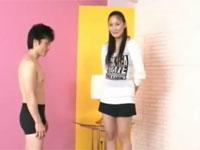 内田真由 182cmの長身お姉さんが小柄なM男優をイカせるセックス!
