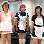【無修正】五十路ババア三人の冥土カフェ!奇声を上げ感じまくる乱交セックス!