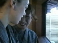 【無修正】母と娘が露天風呂で逆ナンして逆親子丼?3Pセックス!