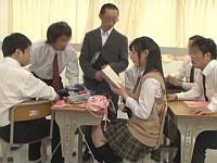 持ち物検査で見つかった官能小説を朗読させられる女子校生!そして輪姦へ......!