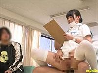 セックスしながらお仕事に励む看護師さん