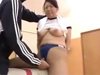 【無修正】豊満四十路熟女とブルマ体操着姿で体育館セックス!紫彩乃