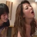 【無修正】西尾玲奈 四十路美熟女が若者の巨根相手に3Pハードセックス!