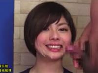 卯水咲流 三十路女子アナがニュース読み中に顔射されても微動だにせず!