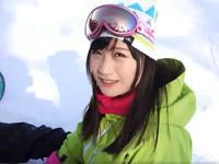 【ナンパ】スキー場で会った黒髪お姉さんとホテルでセックス!涙目で感じて最後は顔射!