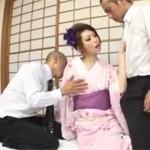 【無修正】着物人妻が刑事二人を手玉に取り3Pセックス!神咲りんか  xvideos