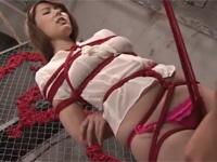 波多野結衣 美人妻縛りプレイ!名人の亀甲縛りが股間に食い込み感じる!