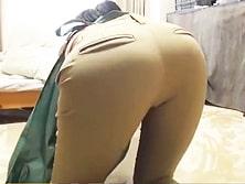 「ケツエッロ!!!!」家事代行人妻のパツンパツン尻に堪らずいきなりバックファック!