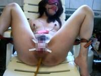 【無修正】M女を拘束調教してアナルに浣腸液を注入【エネマ】