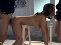 吹石れな 美熟女が女体博物館にセックス展示される!親族の作った借金のために